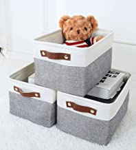 MeCids Storage Bins - Collapsible Fabric Storage Baskets - Organizers and Storage for Closet Shelves, Toy, Office, Nursery...