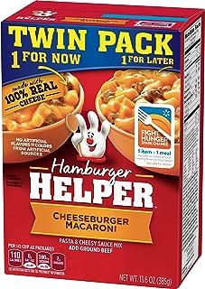 Betty Crocker Dry Meals Hamburger Helper Pasta and Cheesy Sauce Mix Cheeseburger Macaroni, 13.6 Ounce
