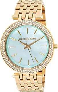 Michael Kors Womens Quartz Watch, Analog Display and Stainless Steel Strap MK3498
