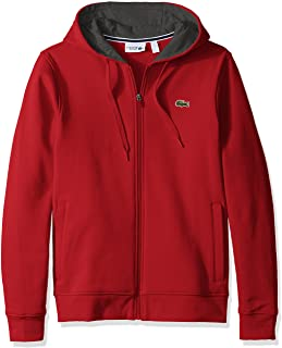 Lacoste Men's Full Zip Hoodie Fleece Sweatshirt, Sh7609