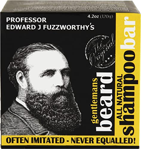 Professor Fuzzworthy's Beard SHAMPOO bar with All Natural Oils From Tasmania Australia - 120g product image