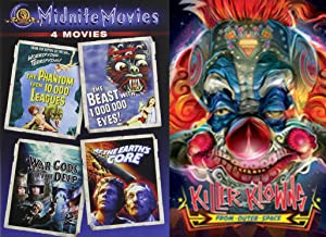 Midnite Movies Cult 5-DVD Bundle - Killer Klowns from Outer Space, Phantom from 10,000 Leagues, Beast with 1,000,000 Eyes!, War-Gods of the Deep & At the Earth's Core
