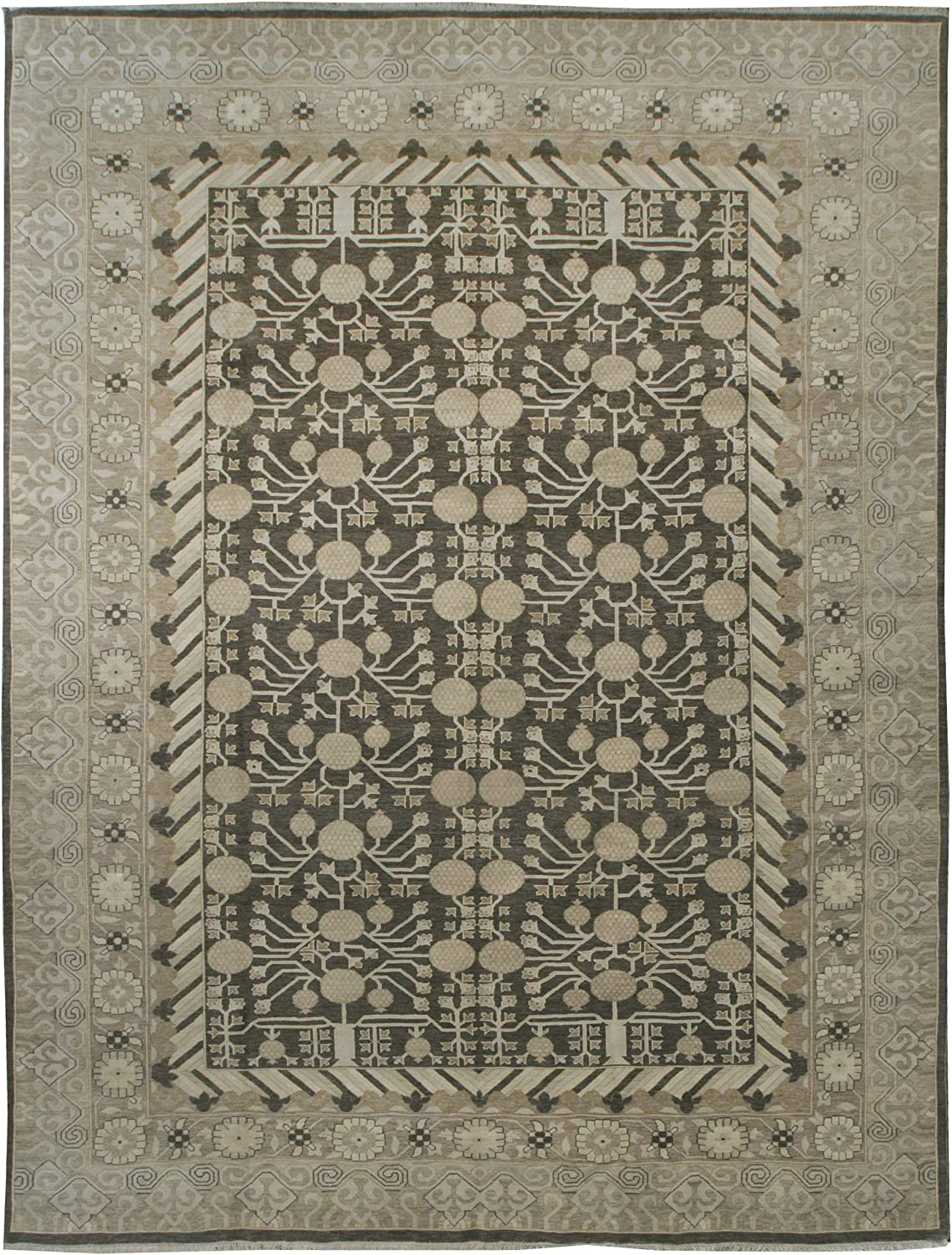 Classic Khotan Rug Wool and 9' - Silk Deluxe 12' Charlotte Mall x