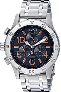 Nixon Women's '38-20 Chrono' Quartz Stainless Steel Casual Watch, Color:Silver-Toned (Model: A4042195-00)