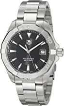 TAG Heuer Men's 'Aquaracer' Quartz Stainless Steel Dress Watch, Color:Silver-Toned (Model: WAY1110.BA0928)