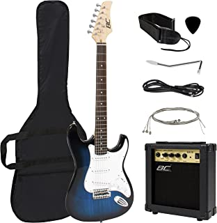 Best Choice Products 41in Full Size Beginner Electric Guitar Bundle Kit w/ Case, Strap