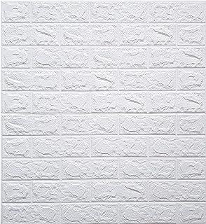 Store2508 PE Foam Wall Stickers 3D Self Adhesive Wallpaper DIY Wall Decor Brick Stickers (70 x 77cm, Appx. 5.8Sq Feet). (W...