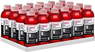vitaminwater zero xxx, electrolyte enhanced water w/ vitamins, açai-blueberry-pomegranate drinks, 16.9 Fl Oz (Pack of 24)