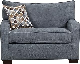 Simmons Upholstery 9025-01M Mia Denim Sleeper Sofa, Mini