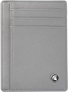 POWR Mens Wallet, Slim RFID Blocking Minimalist Credit Card Holder (Grey), Holds up to 7 Cards and Bank Notes, Ideal for T...