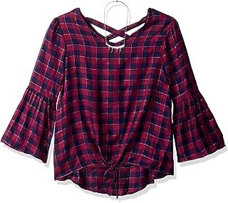 Best plaid bell sleeve shirtdress Reviews
