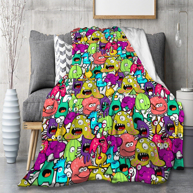 MYSTCOVER Creative Cartoon Monster Blanket New Max 58% OFF item Siesta Flannel T Sofa