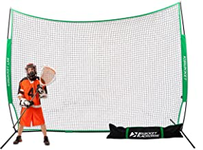 Rukket 12x9ft Lacrosse Backstop Barrier Net | Sports Outdoor and Indoor Lax Protection Goal Netting for Field and Backyard Practice