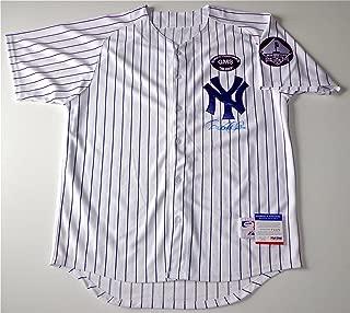 Autographed Derek Jeter Jersey - Steinbrenner & Sheppard Patches Coa P64179 - PSA/DNA Certified - Autographed MLB Jerseys