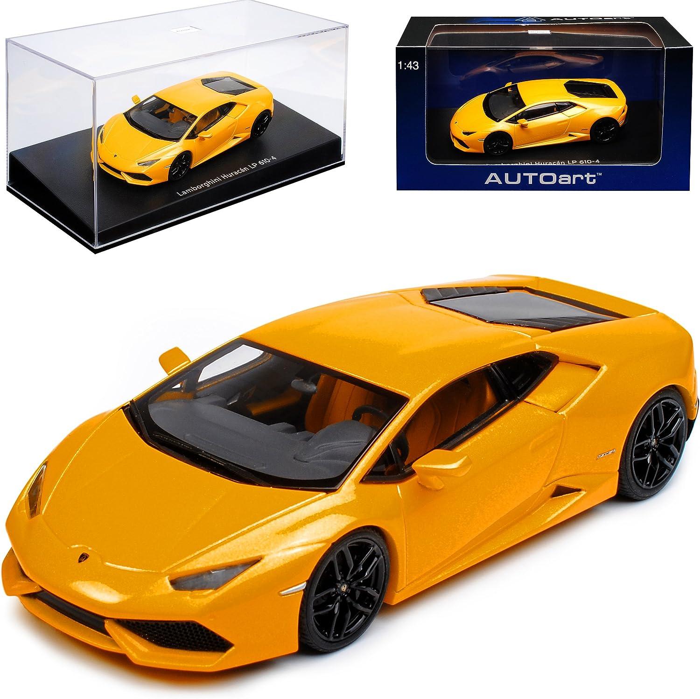 AUTOart Lamborghini Huracan LP610-4 Coupe Gelb 54603 1 43 Modell Auto mit individiuellem Wunschkennzeichen