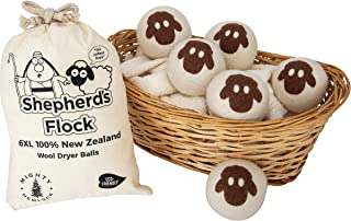 Wool Dryer Balls Handmade from All Organic New Zealand Wool - Reusable - Baby Safe - Non Toxic - Reduce Wrinkles - Saves T...