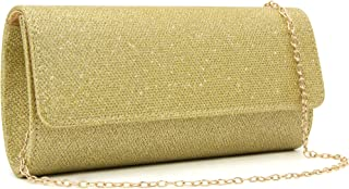 Milisente Evening Bag for Women Glitter Crossbody Shoulder Handbag Sparkly Clutch Bag Wedding Evening Purse