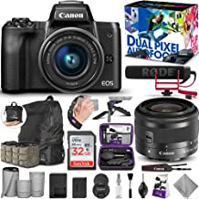 $649 » Canon EOS M50 Mirrorless Digital Camera and 15-45mm Lens Video Creator Kit with Altura Photo Essential Accessory and Travel Bundle