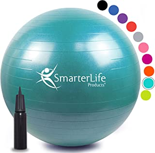 SmarterLife Exercise Ball for Yoga, Balance, Stability – Fitness, Pilates,..
