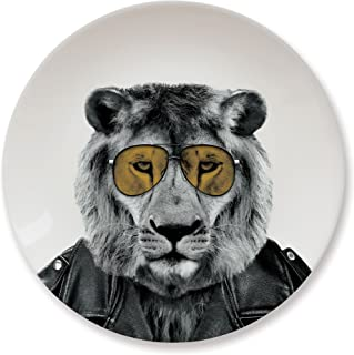 MUSTARD Ceramic Dinner Plate I Dishwasher safe I Dinnerware - Wild Dining Lion