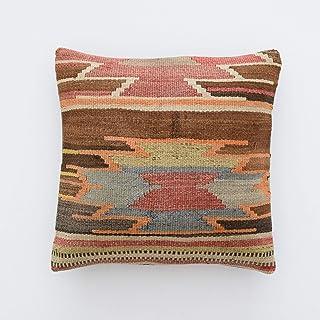 Tr73ans Funda de almohada étnica clásica de 45,7 x 45,7 cm, cojín marroquí, regalo étnico clásico, fundas de almohada kussenhoes kissen marokko tribal cojín étnico