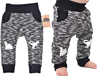 3cd89fd5acbf1 Mini Jiji Dinosaur Knee Patch Stretch Pants for Infant Baby Toddler Unisex  Boys and Girls