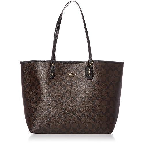 Coach Signature Reversible PVC City Large Tote Bag Handbag 7d7b1021b8949