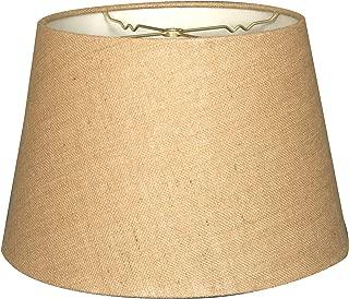 Royal Designs HB-606-18BL Tapered Shallow Drum Hardback Lamp Shade, 13 x 18 x 12, Burlap