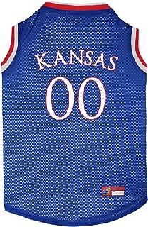 Pets First Kansas Jayhawks Basketball Mesh Jersey for Dogs & Cats, XX-Large