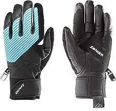 Zanier Unisex – volwassenen 21068-2028-7,5 handschoenen, zwart, lichtblauw, 7.5