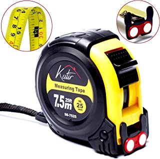 Measuring Tape Measure By Kutir – EASY TO READ 25 Foot BOTH SIDE DUAL RULER,..