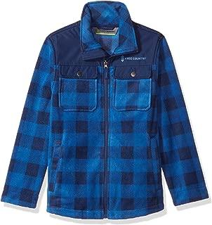 Free Country Big Boys Buffalo Plaid Fleece Shirt Jacket