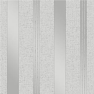comprar comparacion Fine Décor FD41967 - Papel pintado para pared, diseño de rayas, color plateado