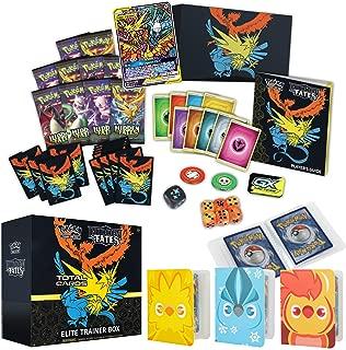 Totem World Sun & Moon Hidden Fates Elite Trainer Box with 3 Totem Mini Binder Collectors Album Inspired Moltres Zapdos & Articuno for Pokemon Cards Tag Team GX Rare Foil Holo Common or Uncommon TCG