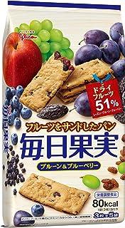 江崎グリコ 毎日果実 プルーン&ブルーベリー 15枚×5個 栄養調整食品