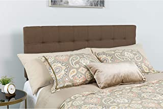 Flash Furniture Bedford Tufted Upholstered King Size Headboard in Dark Brown Fabric