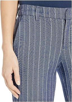Blue/White Herringbone Stripe