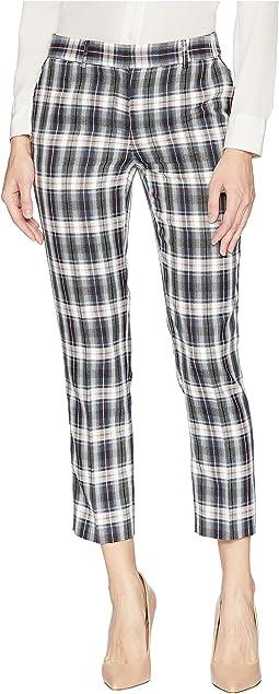 Ankle Length Plaid Pants