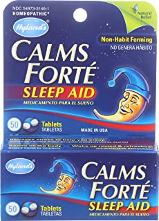 Hyland's Homeopathic Hylands Homeopathic Calms Forte 50 Tablets
