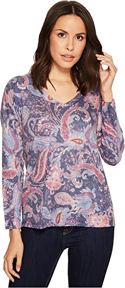 Paisley V-Neck Top