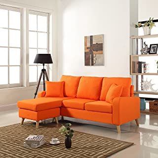 Amazon.com: Orange - Sofas & Couches / Living Room Furniture: Home ...