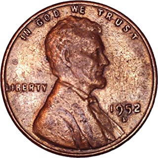 1952 D Lincoln Wheat Cent 1C About Uncirculated