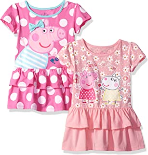 Peppa Pig Girls' Toddler 2 Pack Dresses