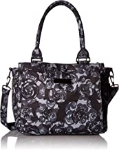 JuJuBe Be Classy Structured Multi-Functional Diaper Bag/Purse, Onyx Collection - Black Petals