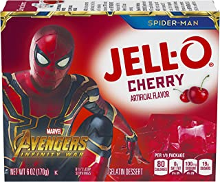 JELL-O Cherry Gelatin Dessert Mix (6 oz Box)