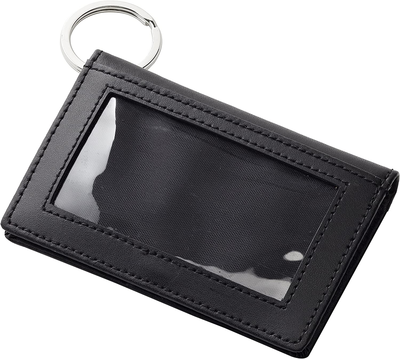 Clava ID Wallet Keychain, Black