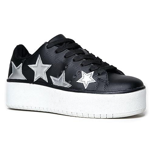368457e1c41a J. Adams Platform Lace up Sneaker - Casual Chunky Walking Shoe - Easy  Everyday Fashion
