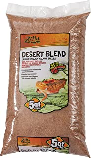 Zilla Dry Ground English Walnut Shell, Desert Sand Blend, 5-QT
