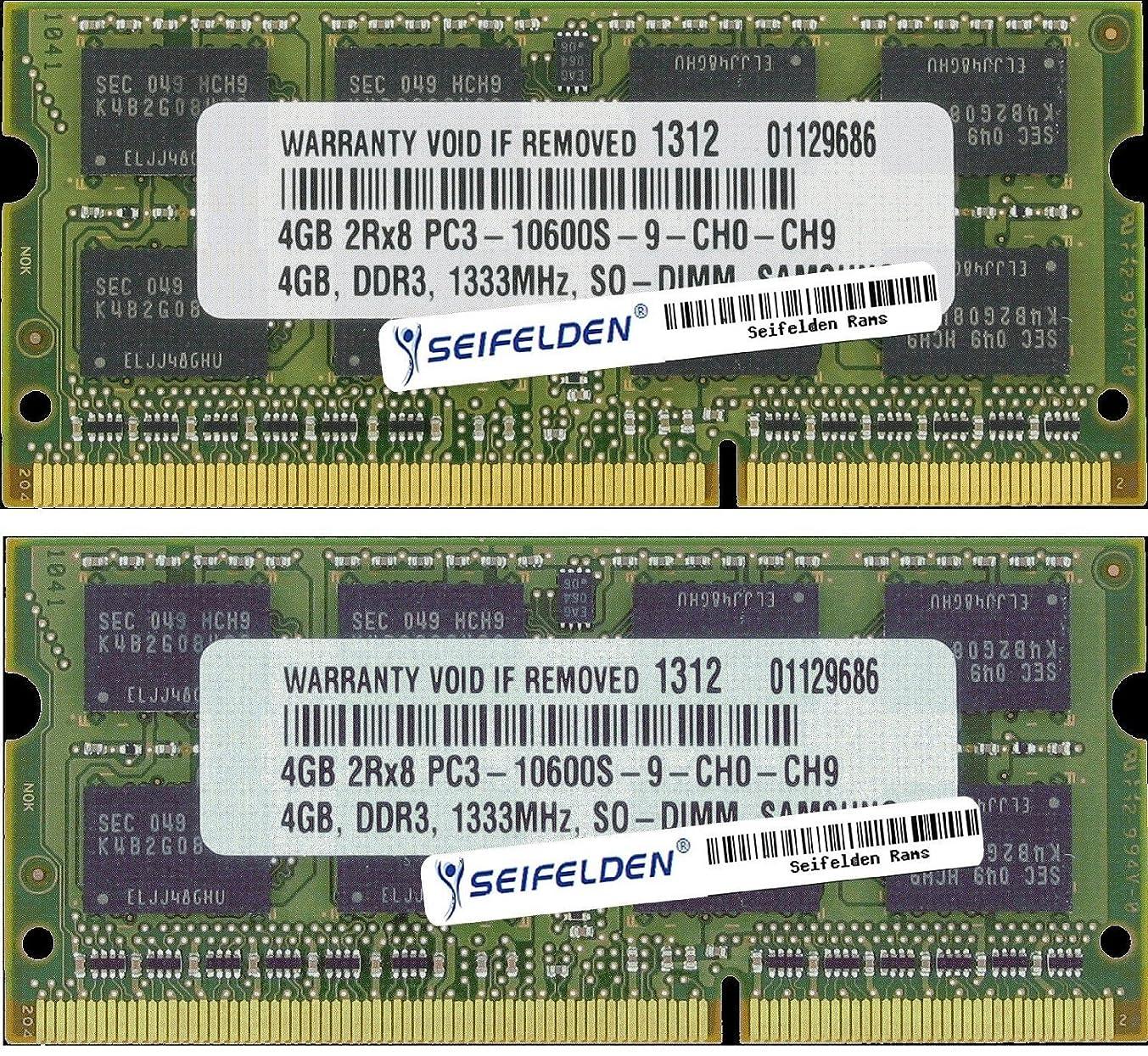 Seifelden 8GB (2X4GB) Memory RAM for HP Pavilion DV4-2160US DV4-2161NR DV4-2162NR DV4-2164US DV4-2165DX DV4-2167SB DV4-2169NR DV4-2170US DV4-2173NR DV4-4001XX
