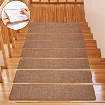"""Indoor Comfort Soft Stair Stepping Mat, Terry Surface Non-Slip Blanket Stair Stepping Mat 8"""" x 30"""" (13-Pack, Brown)"""